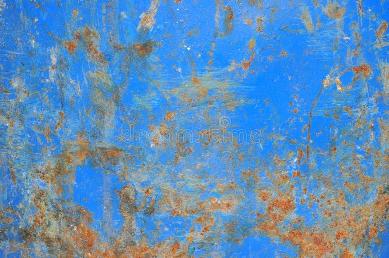 Ferro blu arrugginito fotografia stock