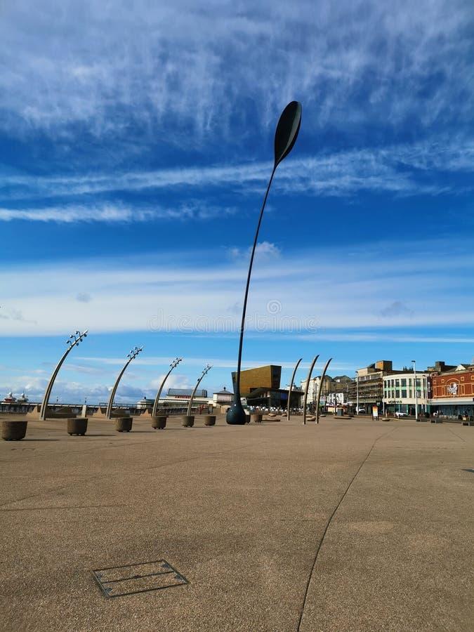 Ferro che affronta vento fotografia stock