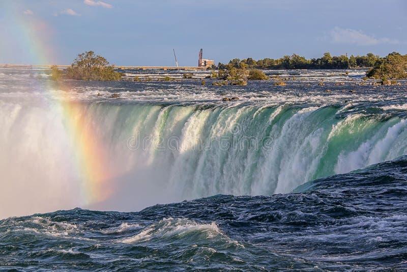 Ferro di cavallo di cascate del Niagara ontario canada Ferro di cavallo di cascate del Niagara ontario canada Bella priorit? bass fotografia stock libera da diritti