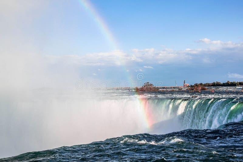 Ferro di cavallo di cascate del Niagara ontario canada Bella priorit? bassa della cascata fotografia stock libera da diritti