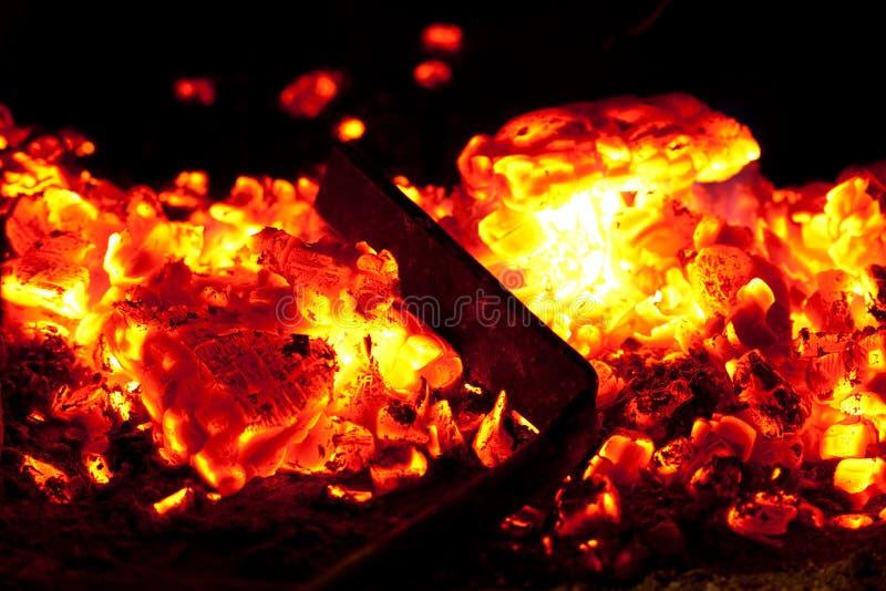 Ferro di fuoco fotografia stock