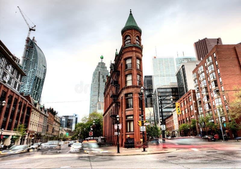 Ferro liso que constrói Toronto foto de stock
