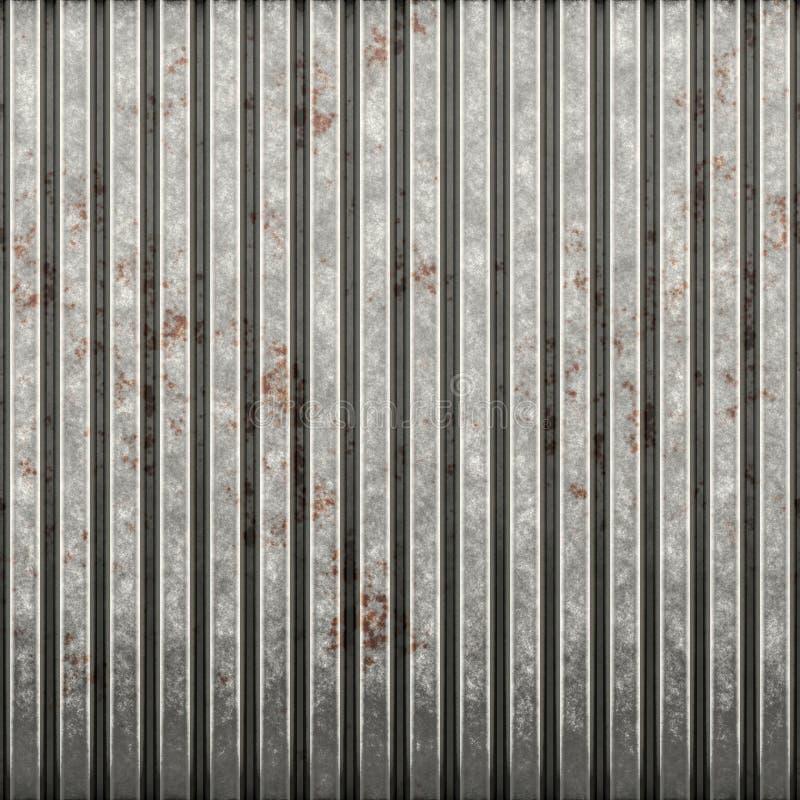 Ferro ondulado oxidado ilustração do vetor