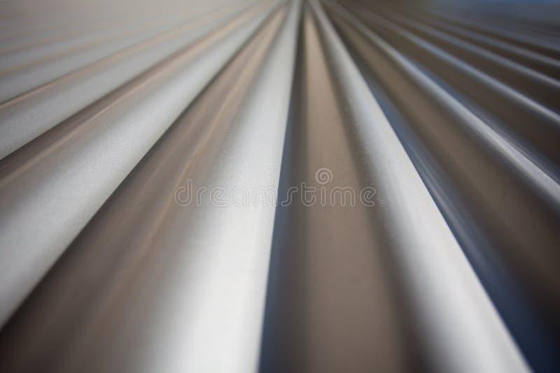 Ferro ondulado que diminui Perspectivel fotografia de stock royalty free