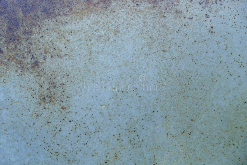 Ferro oxidado azul As superfícies metal com oxidação fotografia de stock