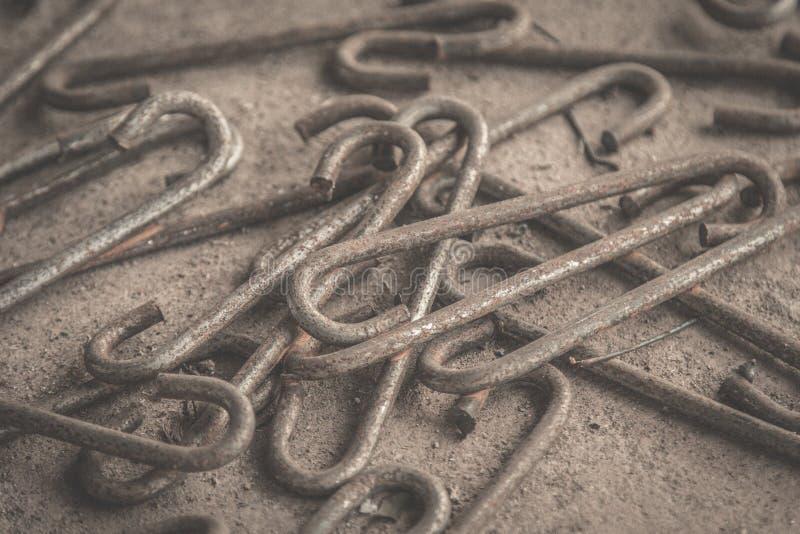 Ferro usado na construção imagem de stock royalty free