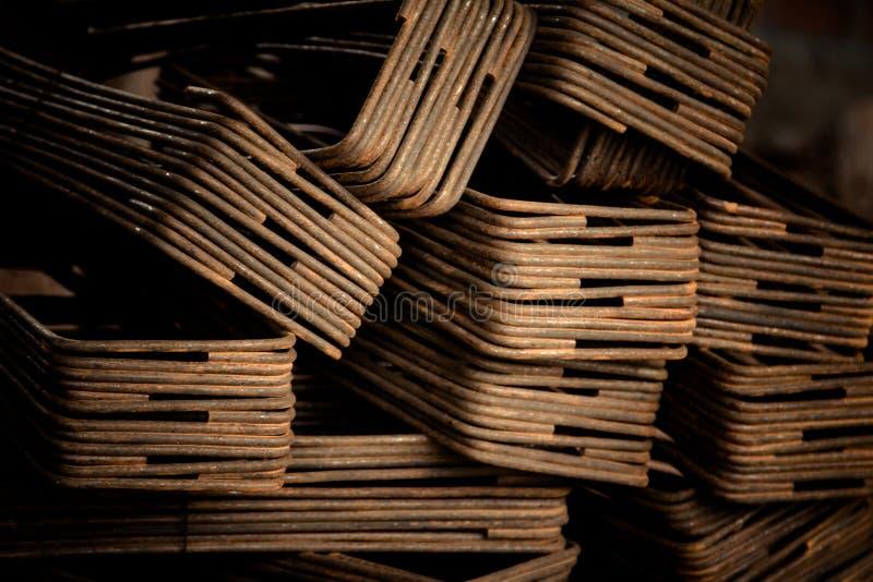 Ferro usado na construção fotografia de stock