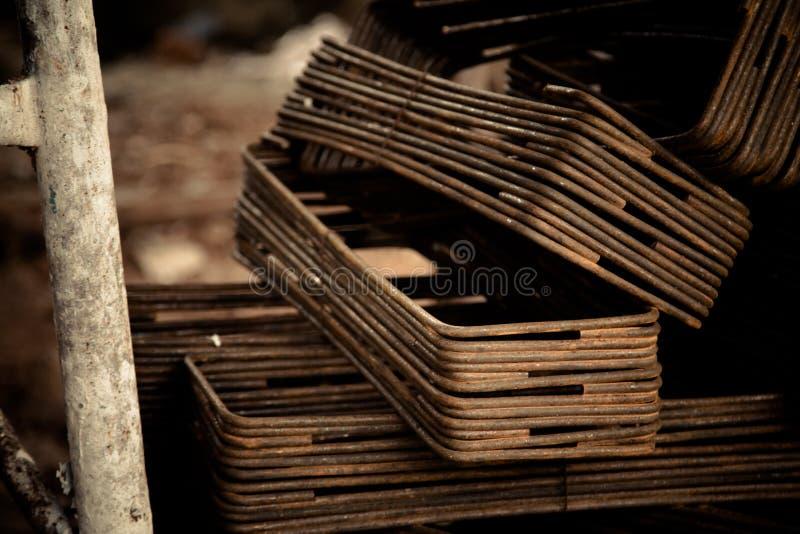 Ferro usado na construção fotografia de stock royalty free
