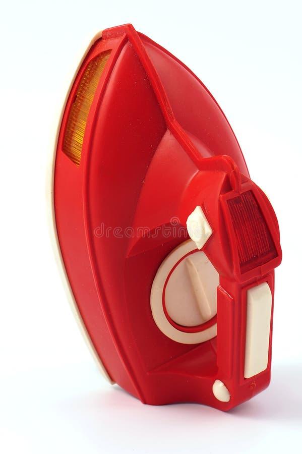 Ferro vermelho do brinquedo imagem de stock royalty free