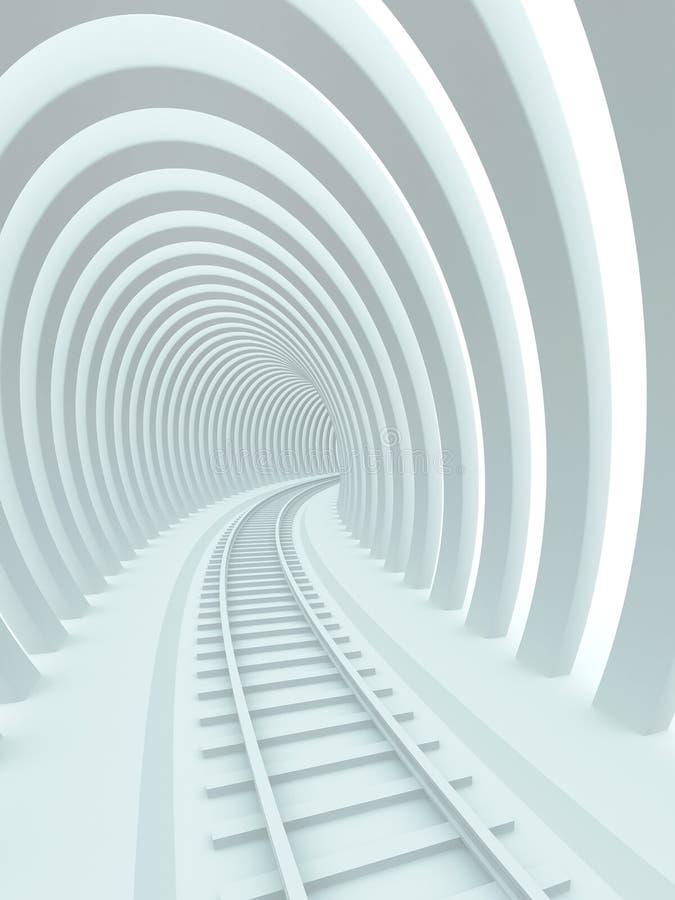 Ferrocarril ilustración del vector
