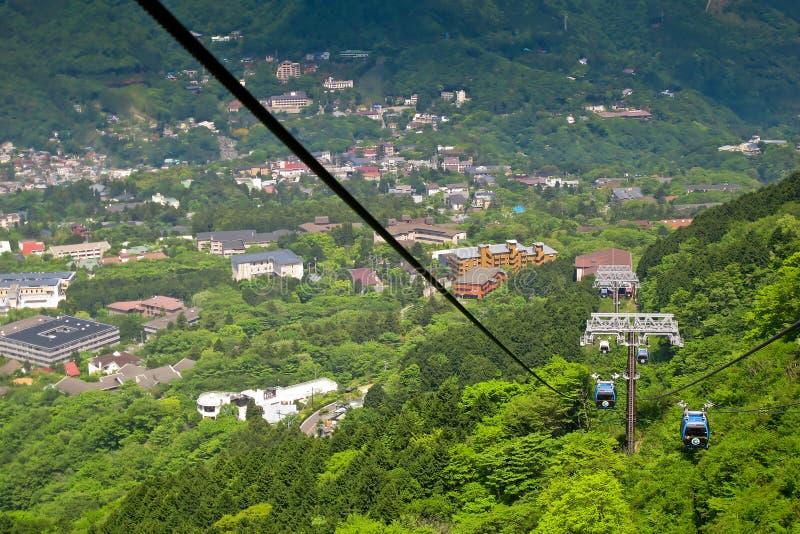 Ferrocarril aéreo de Hakone imagen de archivo libre de regalías