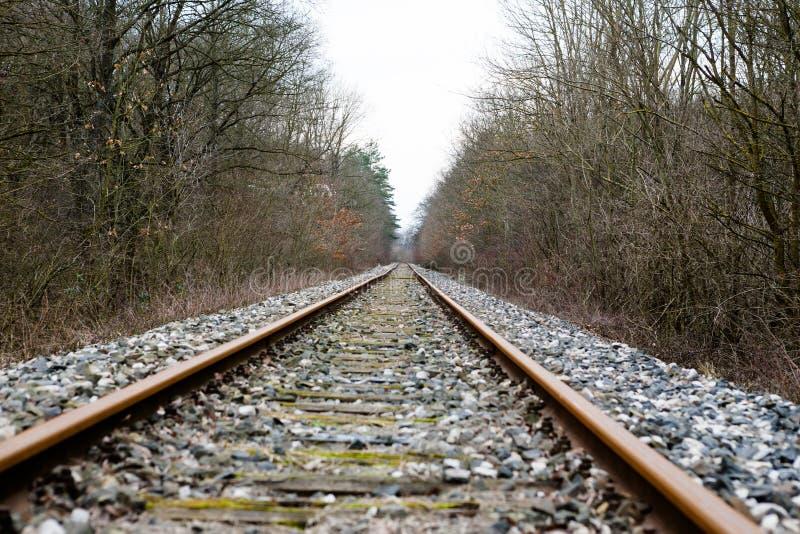 Ferrocarril abandonado viejo imágenes de archivo libres de regalías