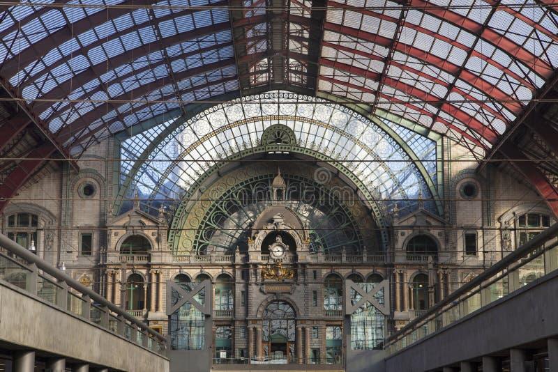 Ferrocarril central de Amberes imágenes de archivo libres de regalías