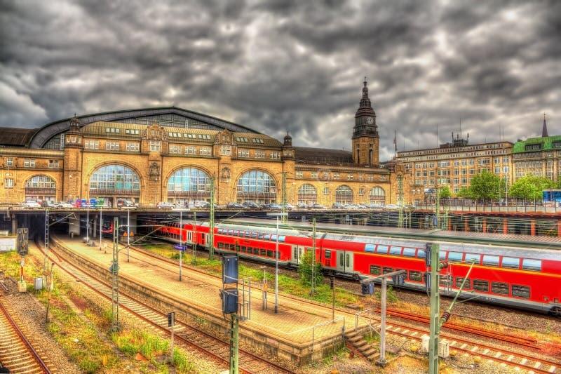 Ferrocarril central de Hamburgo fotos de archivo