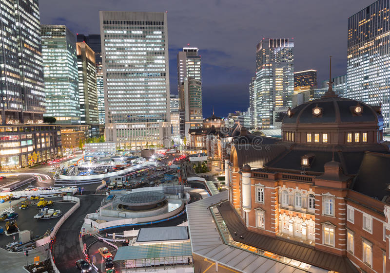 Download Ferrocarril Central De Tokio, Japón En La Noche Foto de archivo - Imagen de japón, metrópoli: 64205282