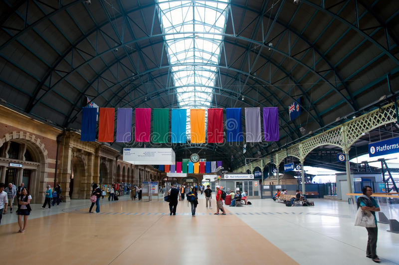 Ferrocarril central Sydney fotos de archivo