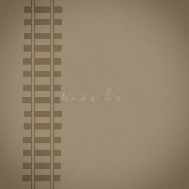 Ferrocarril compuesto del fondo de Brown fotos de archivo