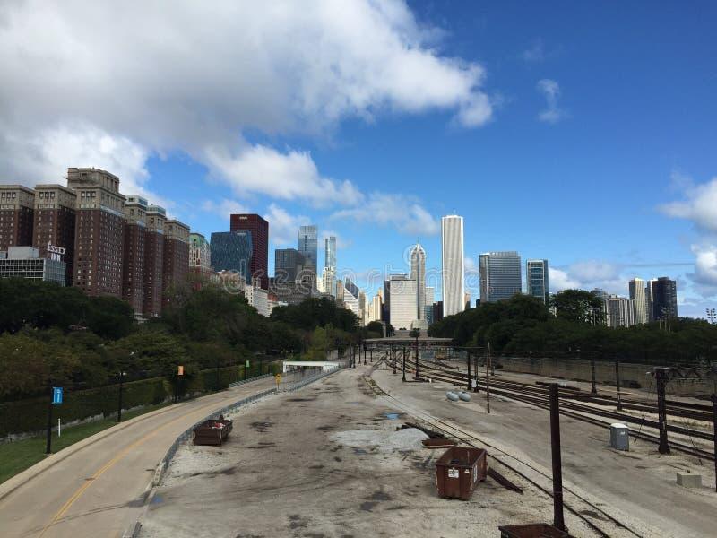 Ferrocarril de Chicago fotos de archivo