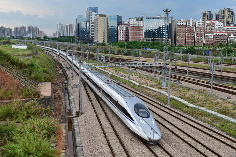 Ferrocarril de China de alta velocidad fotografía de archivo