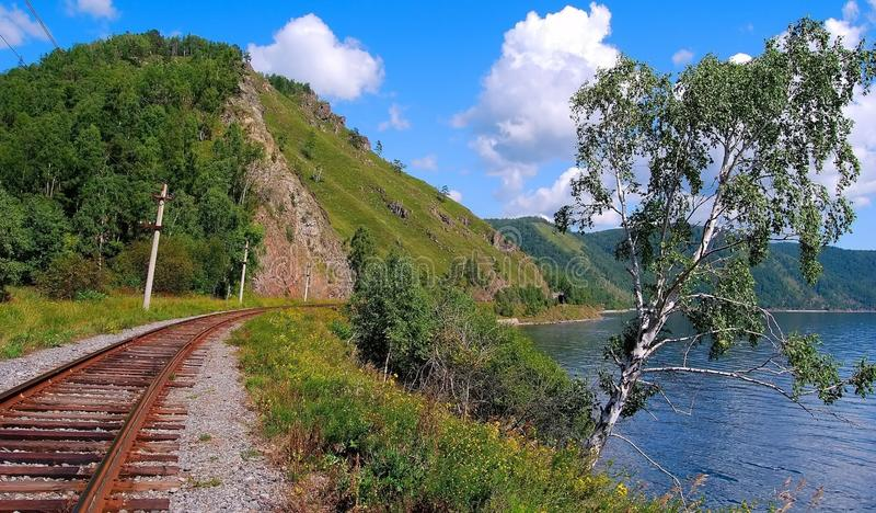 Ferrocarril de Circum-Baikal imagen de archivo