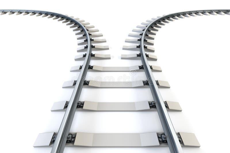 Ferrocarril de divergencia stock de ilustración