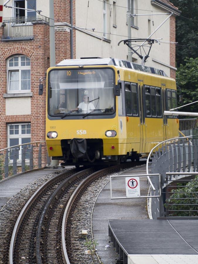 Ferrocarril de estante de Stuttgart fotografía de archivo libre de regalías