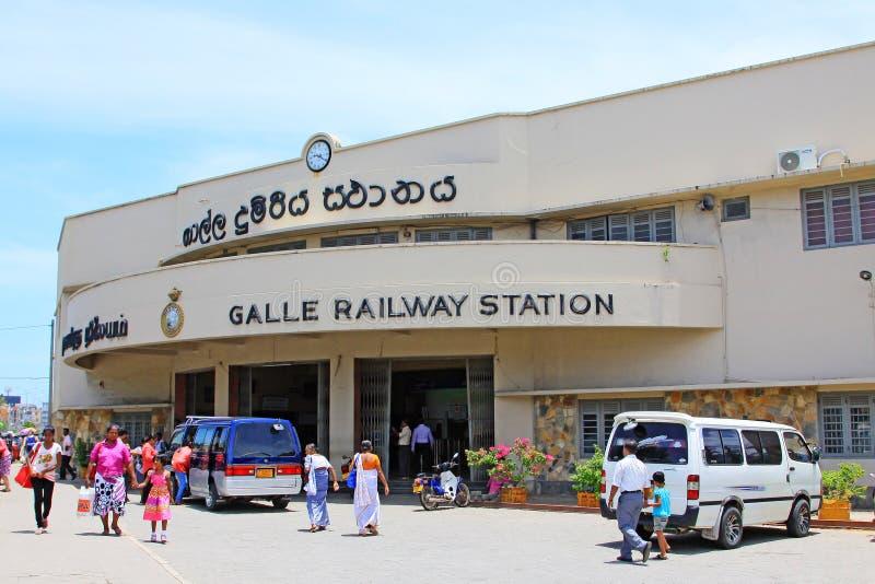 Ferrocarril de Galle, Sri Lanka fotografía de archivo libre de regalías