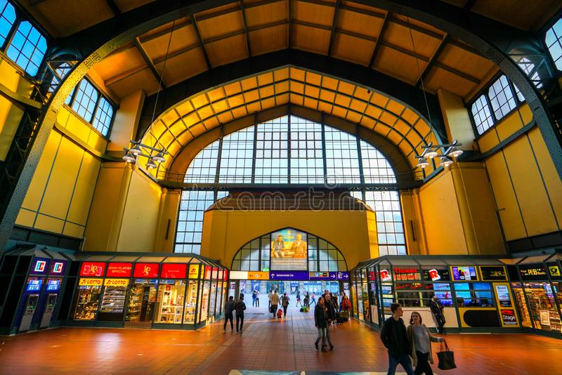 Ferrocarril de Hamburgo Hauptbahnhof imagen de archivo