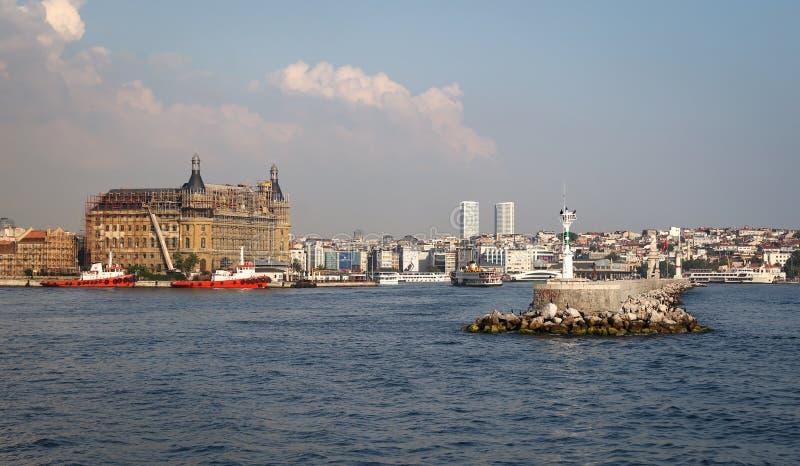 Ferrocarril de Haydarpasa en Estambul, Turquía imagen de archivo