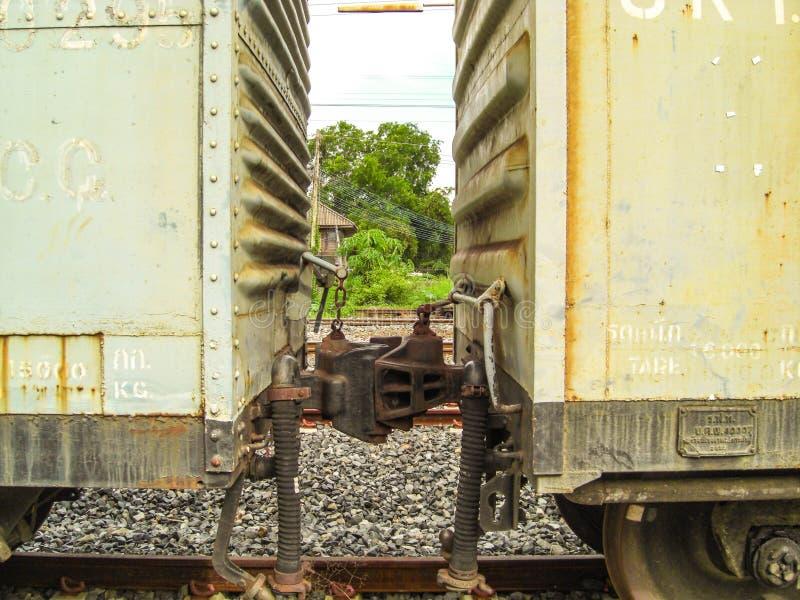 Ferrocarril de la campana de cobre amarillo imágenes de archivo libres de regalías