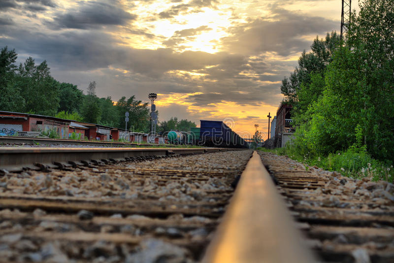 Ferrocarril de la industria imagen de archivo