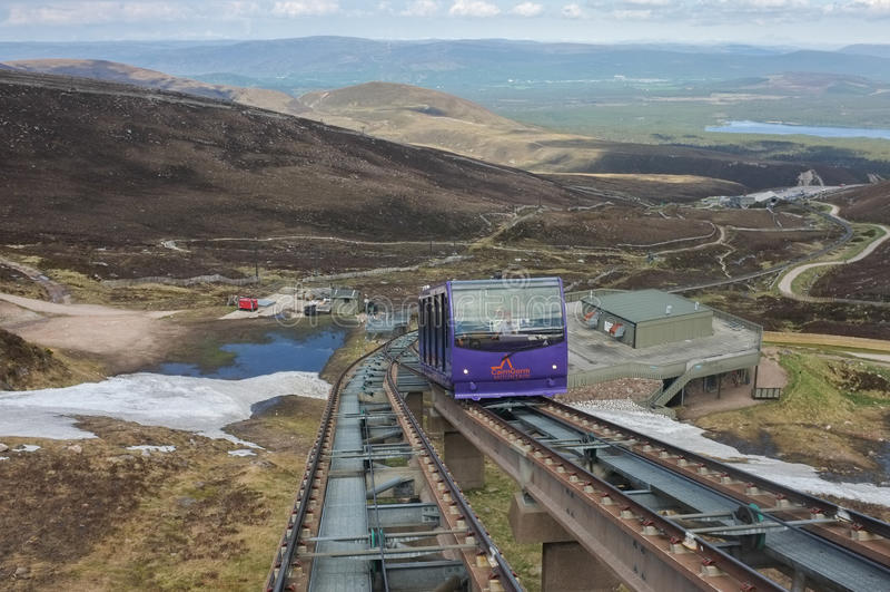Ferrocarril de la montaña de Cairngorm imagen de archivo
