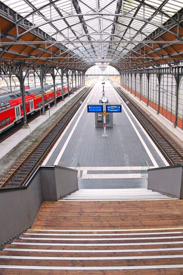Ferrocarril de Lubeck foto de archivo