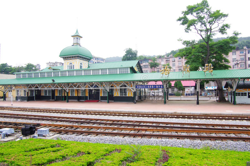Ferrocarril de Lushun en China de nordeste imagen de archivo