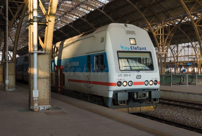 Ferrocarril de Praga fotos de archivo libres de regalías