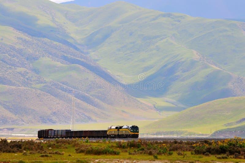 Ferrocarril de Qinghai-Tíbet fotos de archivo