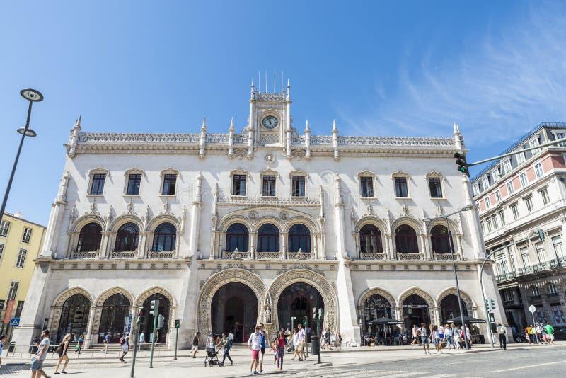 Download Ferrocarril De Rossio En Lisboa, Portugal Imagen editorial - Imagen de historia, ferrocarril: 44856205