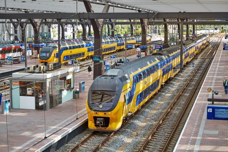 Ferrocarril de Rotterdam Centraal fotografía de archivo libre de regalías