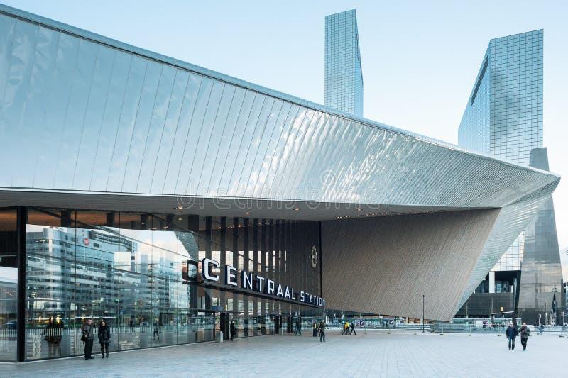 Ferrocarril de Rotterdam Centraal foto de archivo libre de regalías