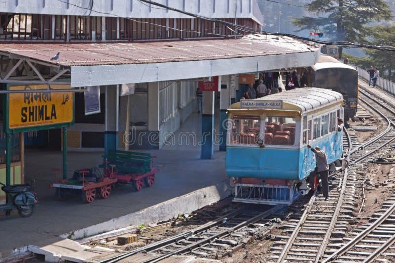 Ferrocarril de Shimla imagen de archivo