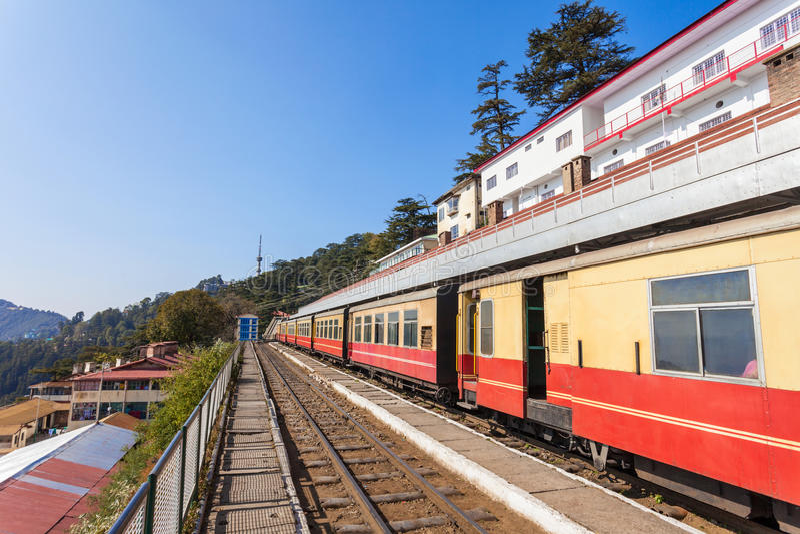Ferrocarril de Shimla fotos de archivo