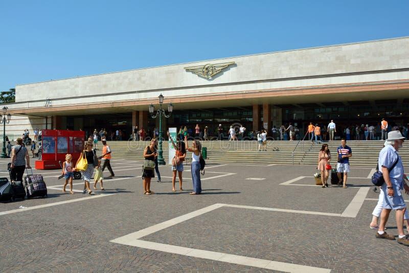 Ferrocarril de Venecia - Italia foto de archivo libre de regalías