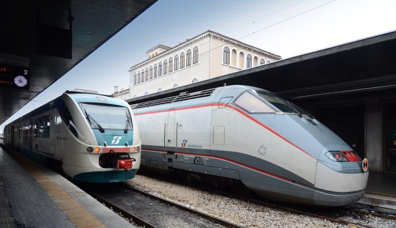 Ferrocarril de Venezia imagen de archivo