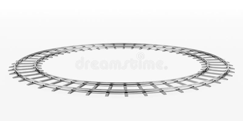 Ferrocarril del anillo ilustración del vector
