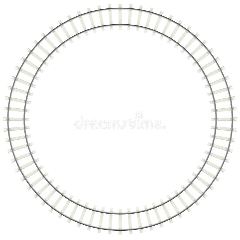 Ferrocarril del círculo aislado en el fondo blanco libre illustration