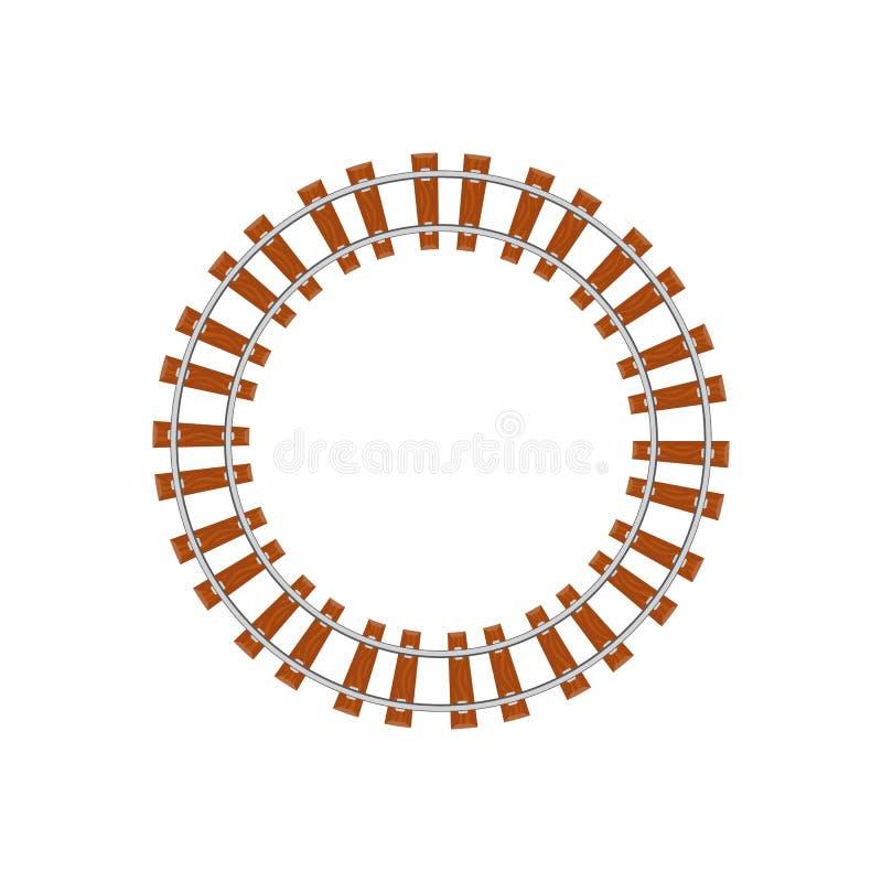 Ferrocarril del círculo en blanco libre illustration