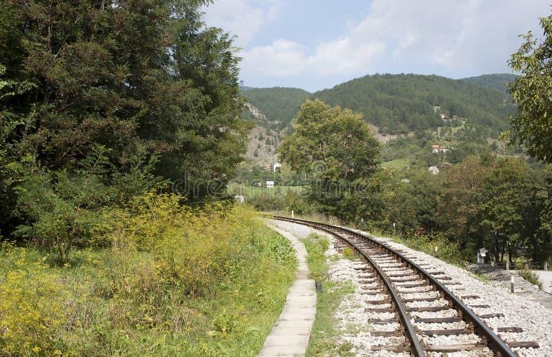 Ferrocarril del calibrador estrecho fotografía de archivo