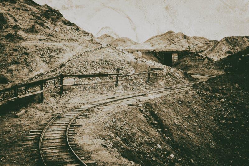 Ferrocarril del estilo del vintage fotos de archivo