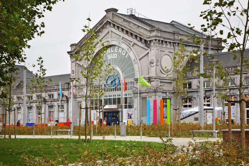 Ferrocarril del sur en Charleroi bélgica foto de archivo libre de regalías