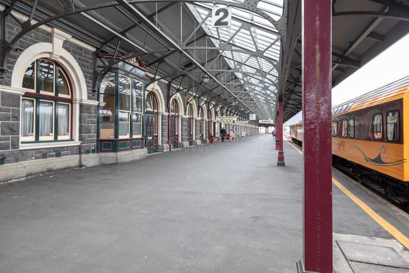 ferrocarril del sur Nueva Zelanda de Dunedin fotos de archivo
